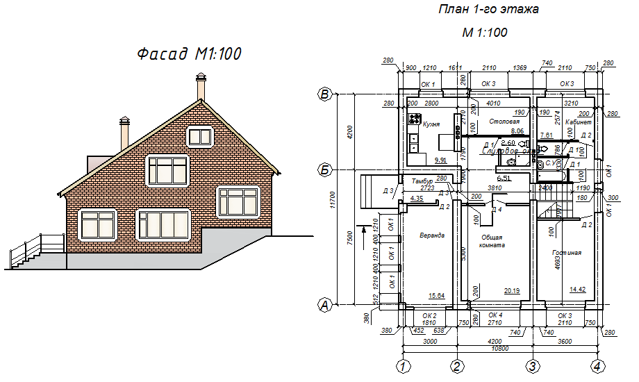 Курсовой проект по архитектуре на тему Одноквартирный жилой  Курсовой проект