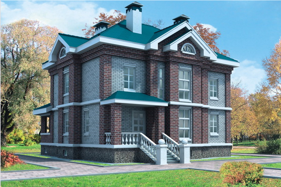 Курсовые и Дипломные проекты коттеджей Чертежи и проекты  Курсовой проект по архитектуре на тему Двухэтажный жилой дом из мелкоразмерных элементов