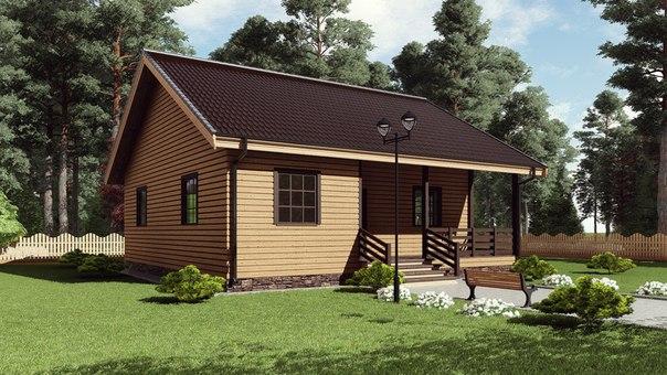 Индивидуальный жилой дом. (Проект 17ИА01-ДО-10,0х10,0-100)