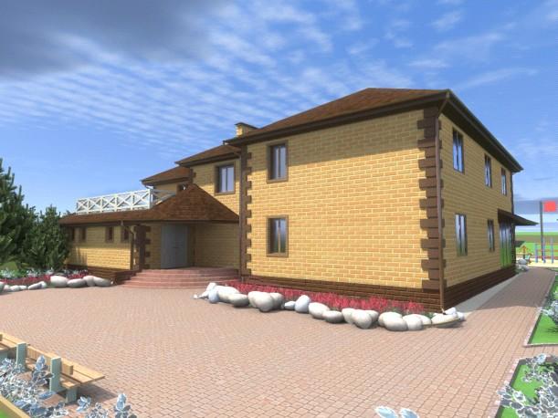 """Родовое поместье в ДНП """"Звенящие Кедры"""" в г.Тюмени с индивидуальным жилым домом на двух хозяев."""