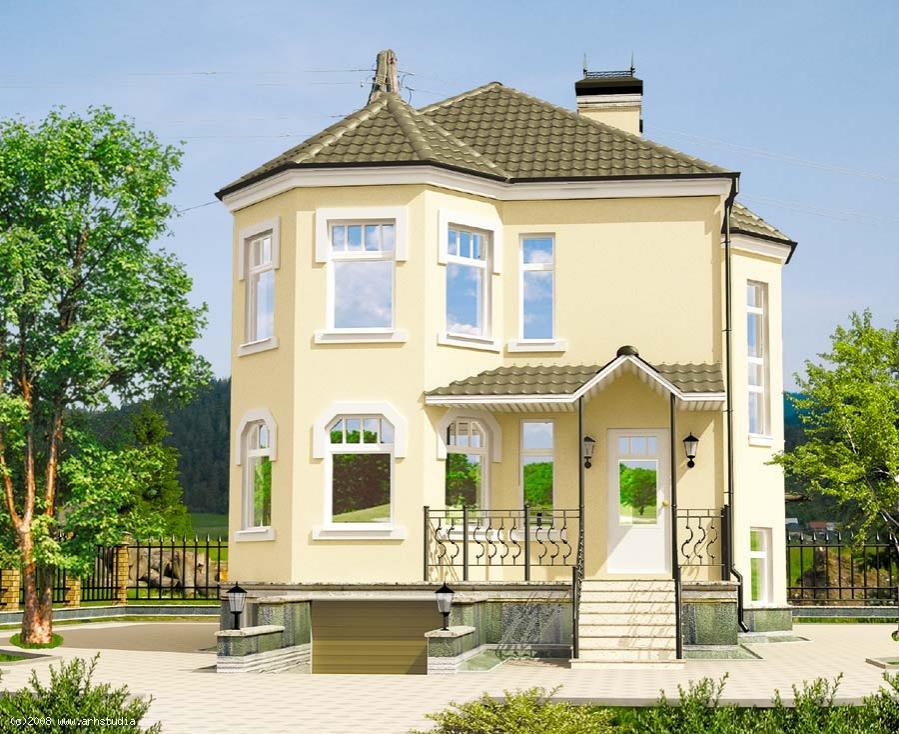 Двухэтажный дом с цокольным этажом «Романтика» (Проект К-103 «Ж»)