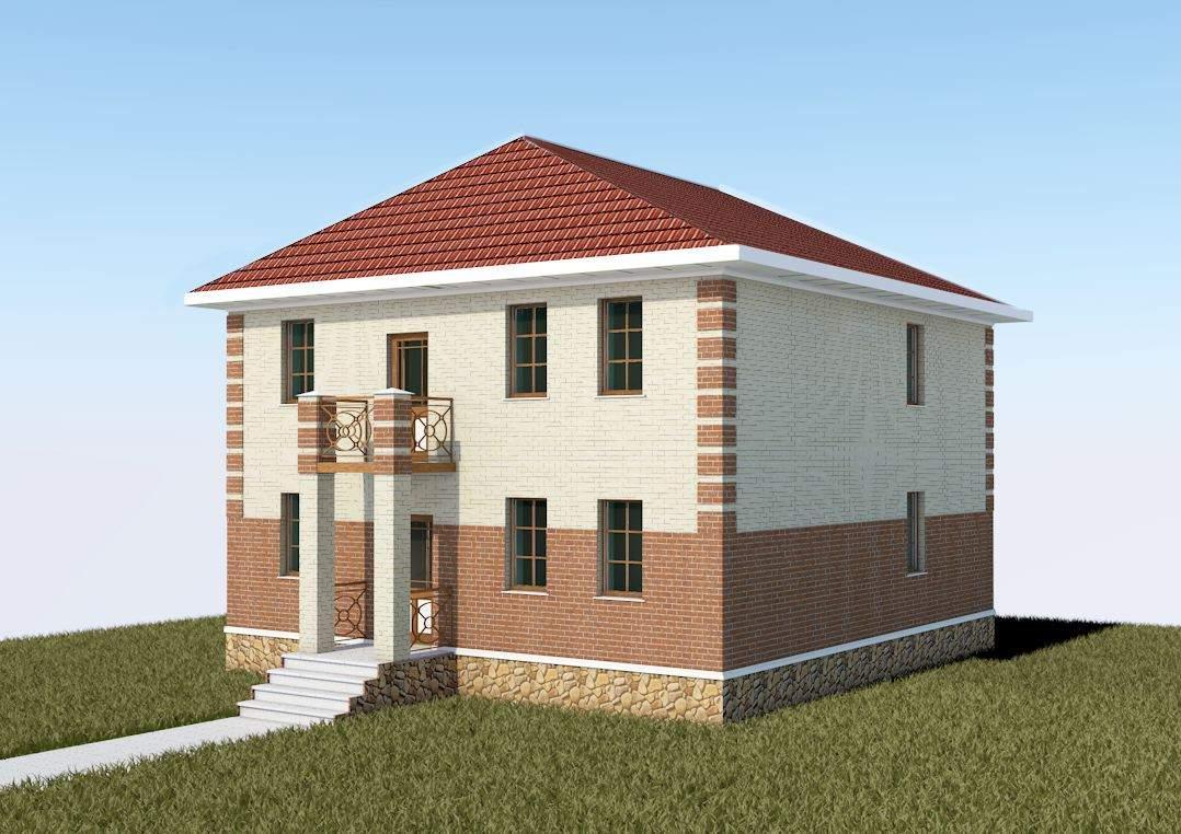 Индивидуальный жилой дом из газобетонных блоков с облицовкой кирпичом