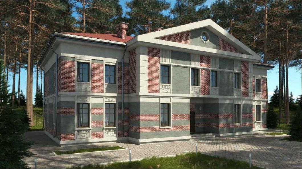 Таунхаус для проживания двух семей. (Проект А-020-А)