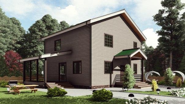 Индивидуальный жилой дом. (Проект 17АЗ07-ДД-10,0х10,0-224)