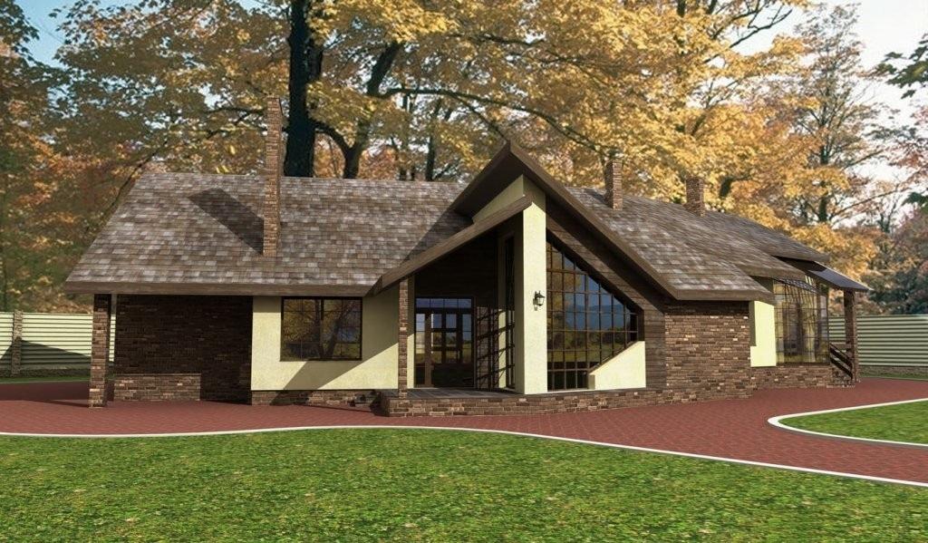 Пятикомнатный одноквартирный жилой дом. (Проект ГП-083)