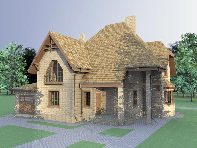 Проект кирпичного дома МП-095
